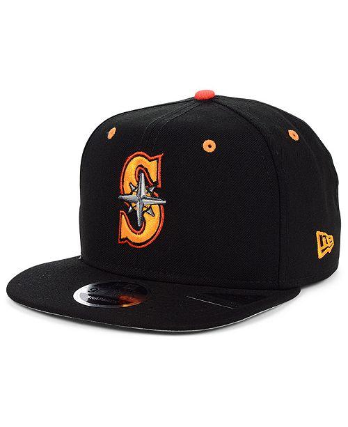 New Era Seattle Mariners Orange Pop 9FIFTY Cap