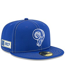 Los Angeles Rams On-Field Sideline Road 59FIFTY-FITTED Cap