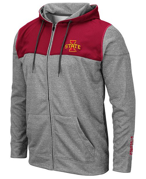 Colosseum Men's Iowa State Cyclones Nelson Full-Zip Hooded Sweatshirt