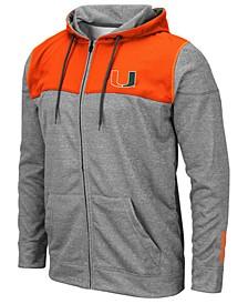 Men's Miami Hurricanes Nelson Full-Zip Hooded Sweatshirt