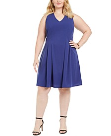 Juniors' Plus Size Sleeveless Fit & Flare Dress