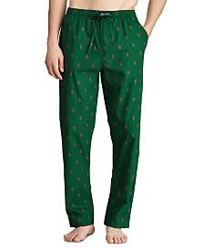 Polo Ralph Lauren Men's Woven All-Over Pony Pajama Pants