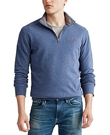 Men's Big & Tall Luxury Jersey Quarter-Zip Sweater
