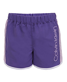 Calvin Klein Performance Big Girls Colorblocked Logo Shorts