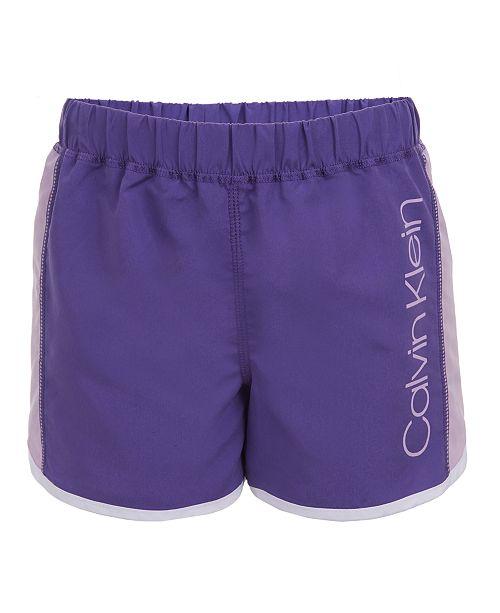 Calvin Klein Big Girls Colorblocked Logo Shorts