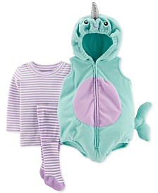 Carter's Baby Girls 3-Pc. Little Narwhal Costume