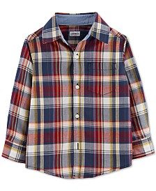 Carter's Baby Boys Cotton Plaid Button-Front Shirt