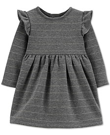 Baby Girls Striped Fleece Dress