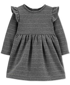 Carter's Baby Girls Striped Fleece Dress