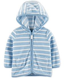 Carter's Baby Boys Striped Zip-Up Fleece Cardigan