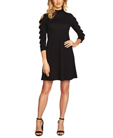 CeCe Cotton Bow-Sleeve Sweater Dress