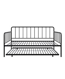 Arya Metal Twin Daybed and Twin Trundle Set