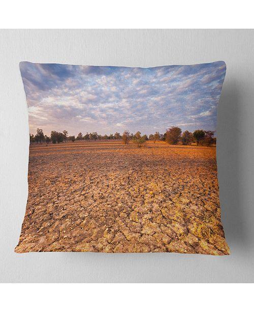 "Design Art Designart Amazing View Of African Landscape Landscape Printed Throw Pillow - 16"" X 16"""
