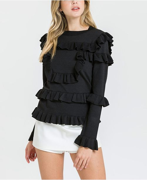 endless rose Ruffled Sweater