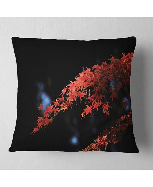 "Design Art Designart Fall Foliage Of Maple Leaves Abstract Throw Pillow - 16"" X 16"""