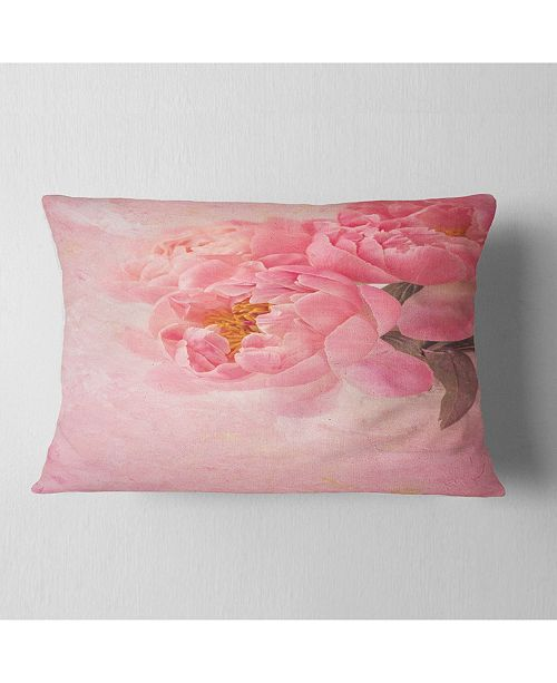 Design Art Designart Peony Flowers On Pink Background Floral Throw Pillow 12 X 20 Reviews Decorative Throw Pillows Bed Bath Macy S
