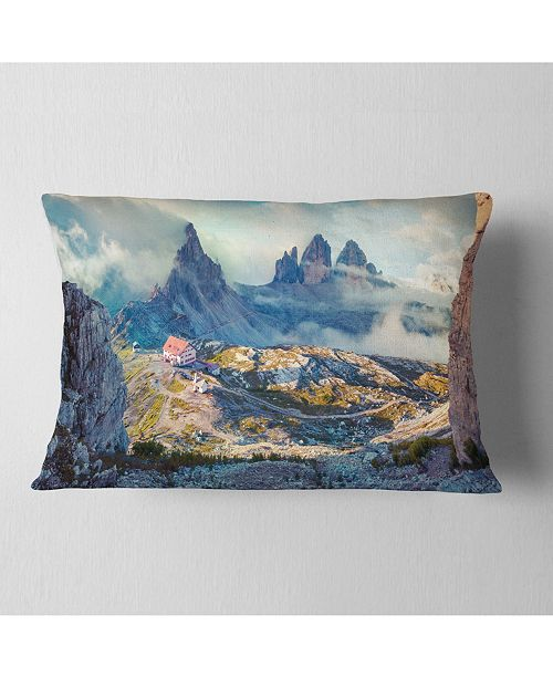 "Design Art Designart Beautiful Lacatelli In National Park Landscape Printed Throw Pillow - 12"" X 20"""