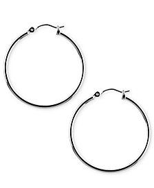 "Nine West Silver-Tone 1-1/4"" Hoop Earrings"