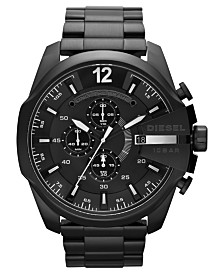 Diesel Men's Chronograph Black Ion-Plated Stainless Steel Bracelet Watch 51mm DZ4283