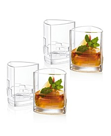 Revere Triangle Double Old Fashioned Glasses, Set of 4