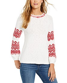 Fair-Isle Boat-Neck Sweater, Created For Macy's