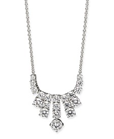"""Silver-Tone Cubic Zirconia Mini Statement Necklace, 16"""" + 1"""" extender, Created For Macy's"""