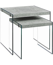 2 Piece Nesting Table Set