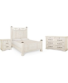 Trisha Yearwood Homecoming Post Bedroom Collection 3-Pc. Set (Queen Bed, Nightstand & Dresser)