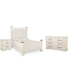 Homecoming Post Bedroom Collection 3-Pc. Set (Queen Bed, Nightstand & Dresser)