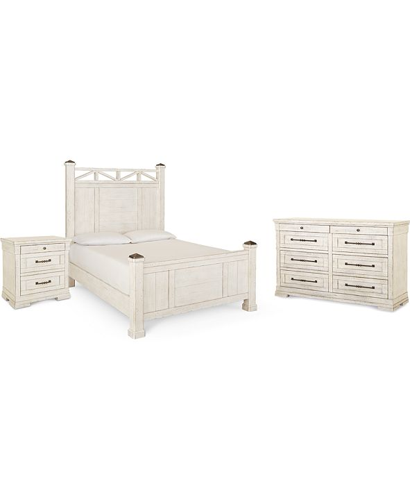 Klaussner Trisha Yearwood Coming Home Post Bedroom Collection 3-Pc. Set (California King Bed, Nightstand & Dresser)