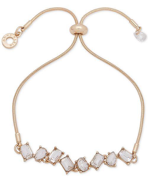Anne Klein Stone Crystal Slider Bracelet