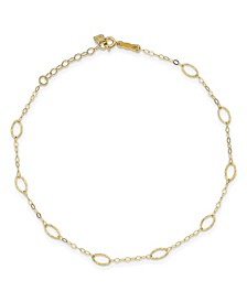 Oval Anklet in 14k Yellow Gold