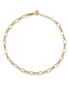Chain Anklet in 14k Yellow Gold