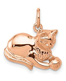 Cat Charm 14k Rose Gold