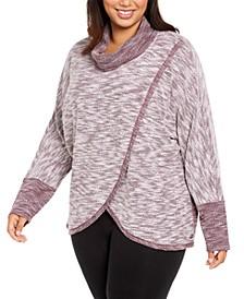 Plus Size Cowl-Neck Sweatshirt