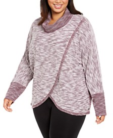 Calvin Klein Performance Plus Size Cowl-Neck Sweatshirt