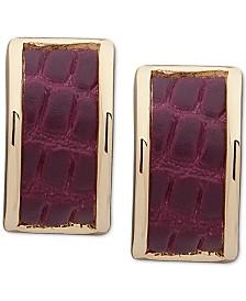 Lauren Ralph Lauren Gold-Tone & Snake-Embossed Stud Earrings