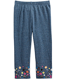 First Impressions Baby Girls Floral Border Legging, Created for Macy's