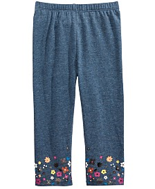 First Impressions Baby Girls Floral-Border Leggings, Created For Macy's
