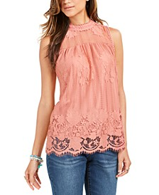 Lace-Trim Top, Created for Macy's