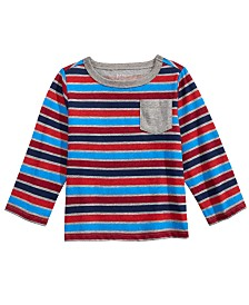First Impressions Baby Boys Striped Long-Sleeve T-Shirt, Created For Macy's