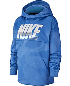 Nike Big Boys Therma Dri-FIT Camo-Print Hoodie