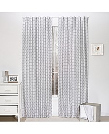 "42"" x 84"" Grey Geo Print Curtain Set"