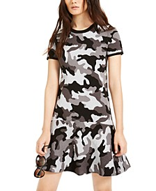 Camo Flounce Dress