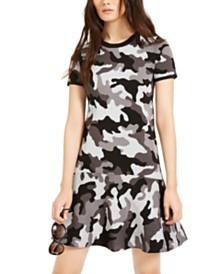 Michael Michael Kors Camo Flounce Dress