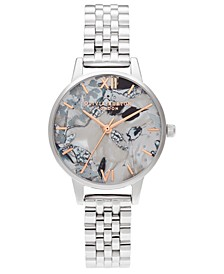 Women's Abstract Floral Stainless Steel Bracelet Watch 30mm