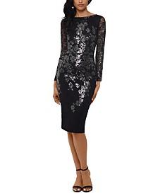 XSCAPE Sequined Sheath Dress