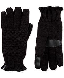 Women's Textured Knit Touchscreen Gloves