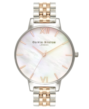Olivia Burton Watches WOMEN'S TWO-TONE STAINLESS STEEL BRACELET WATCH 38MM