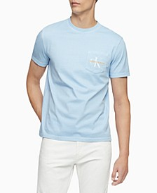 Men's Garment-Dyed Monogrammed T-Shirt